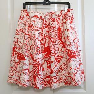 Anthropologie FEI Butterfly Garden Full Skirt SZ 6